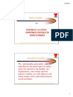 Energy Saving Opportunities in Industries