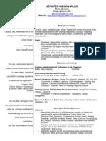jennifer gibson-millis  resume