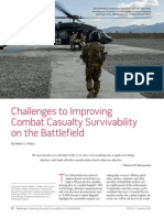 Challenges to Improving Combat Casualty Survival on the Battlefield