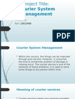 Courier System Management-System Analyst