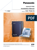 KX-TDA15 V1.1 Installation Manual