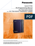 KX-TDA15 V3 PC Programming Manual