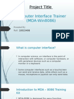 Computer Interface Trainer (MDA-Win8086)-Presentation
