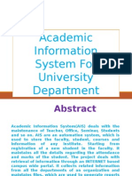Academic Information System for University Department-software Main Project