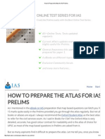 How to Prepare the Atlas for IAS Prelims