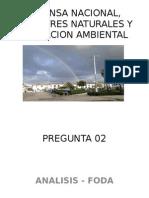 Defensa Nacional, Desastres Naturales y Educacion Ambiental
