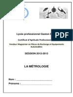 5 Cours La Metrologie