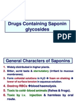Drugs Containing Saponin Glycosides