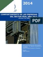 Comportamiento Empresas Sector Real Año 2013 Excluyendo 1000 Mas Grandes