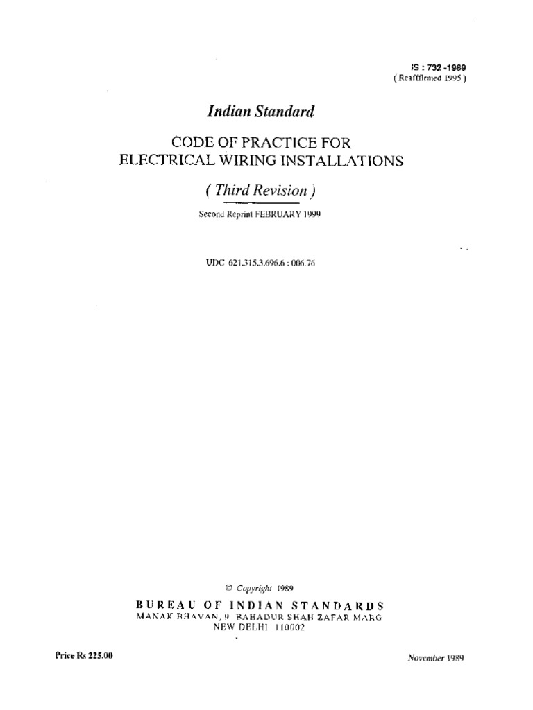 Is Codes for Electrical Wiring