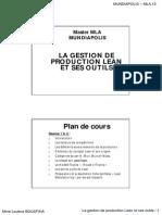 La Gestion de Production Lean Et Ses Outils Document Partie 1