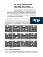The Lateral Reaction Step in Tennis Footwork