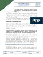 Directiva Codigo de Etica. Ver 01