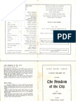 Freedom of the City Programme 1976