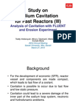 Teddy Ardiansyah - Study on Sodium Cavitation for Fast Reactors (III) Analysis of Cavitation with FLUENT and Erosion Experiment