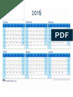 Calendario 2016 1er Semestre