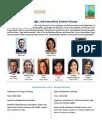 SMS Denver Knowledge and Innovation Interest Group Program 2015 Long
