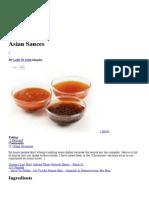 Asian Sauces Recipe