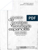 Antonio Quilis, Joseph A. Fernandez - Curso de Fonetica y Fonologia Espanolas