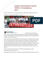 Chinese Authorities Orchestrate Surprise Raid of Labor NGOs in Guangdong, ArrestingLeaders