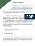 A Declaração de Salamanca