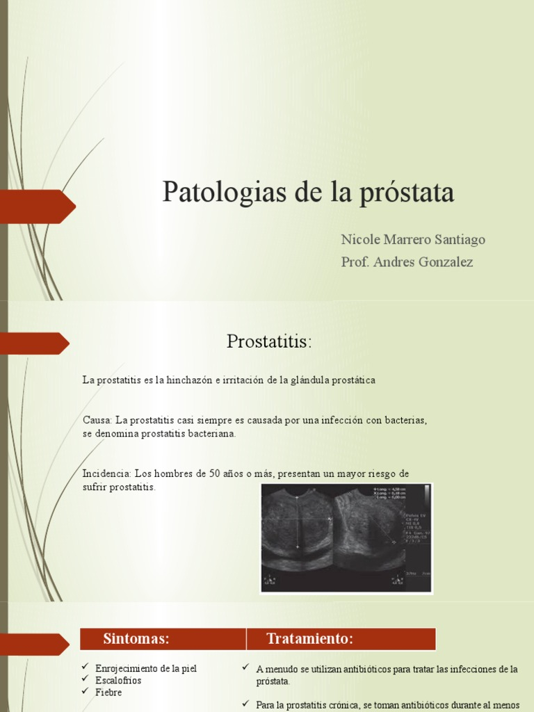 prostatitis bacteriana causa de muerte