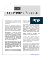 Introduction to Behavioral Finance