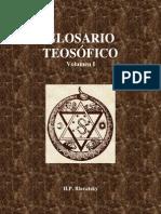 Glosario Teosófico Vol. 1