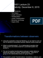 20151208 Lec23 SpecialRelativity Slides