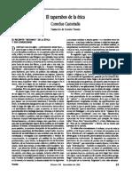 Cornelius Castoriadis - El taparrabos de la ética