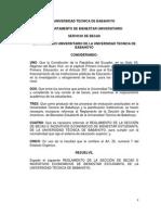 Reglamento de La Sección de Bbvbbecas e Incentivos Economicos