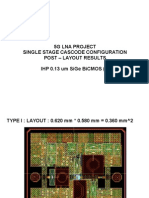 5G LNA Post-Layout Results
