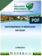 Variaçao da cotacao, soja 06/2015