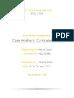 Framework of Curriculum Design