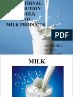 Milk & millk products;