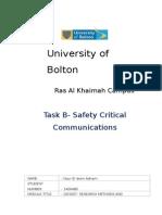 Safety Critical Communication