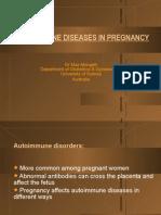 Autoimmune Diseases in Pregnancy