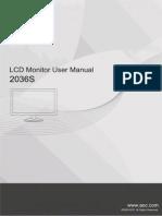 User039s Manual 2036S