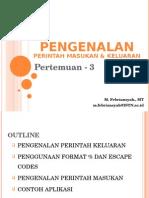 Perintah I/O (Input/Output)