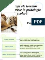 Aplicaţii Ale Teoriilor Behavioriste În Psihologia Şcolară Prez