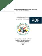 Propuesta Para La Implementación de Mezclas Asfálticas Tibias en La Ciudad de Medellín