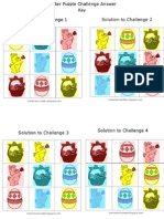 Easter Puzzle Challenges Answer Key