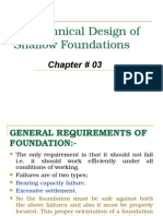 Geo-technical Design of Shallow Foundation
