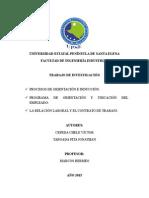Relaciones Industriales (Procesos de Orientación e Inducción - Relaciones Laborales - Contrato de Trabajo)