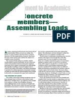 Concrete Members - Assembling Loads