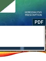 Hemodialysis Prescription