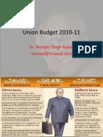 Budget 2010 Presentation