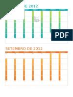 calendarios 2012
