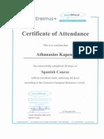 attendance certificates it
