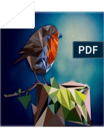 Polygon Art- Robin